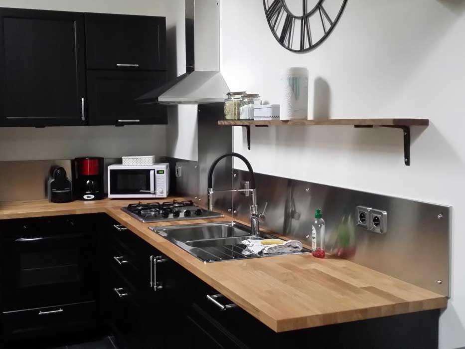 PlakSteel - Fotos von Küchenrückwänden aus Edelstahl, Eingebaute ...