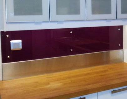 PlakSteel - Niedrige Küchenrückwand oder Scheuerleiste aus Edelstahl